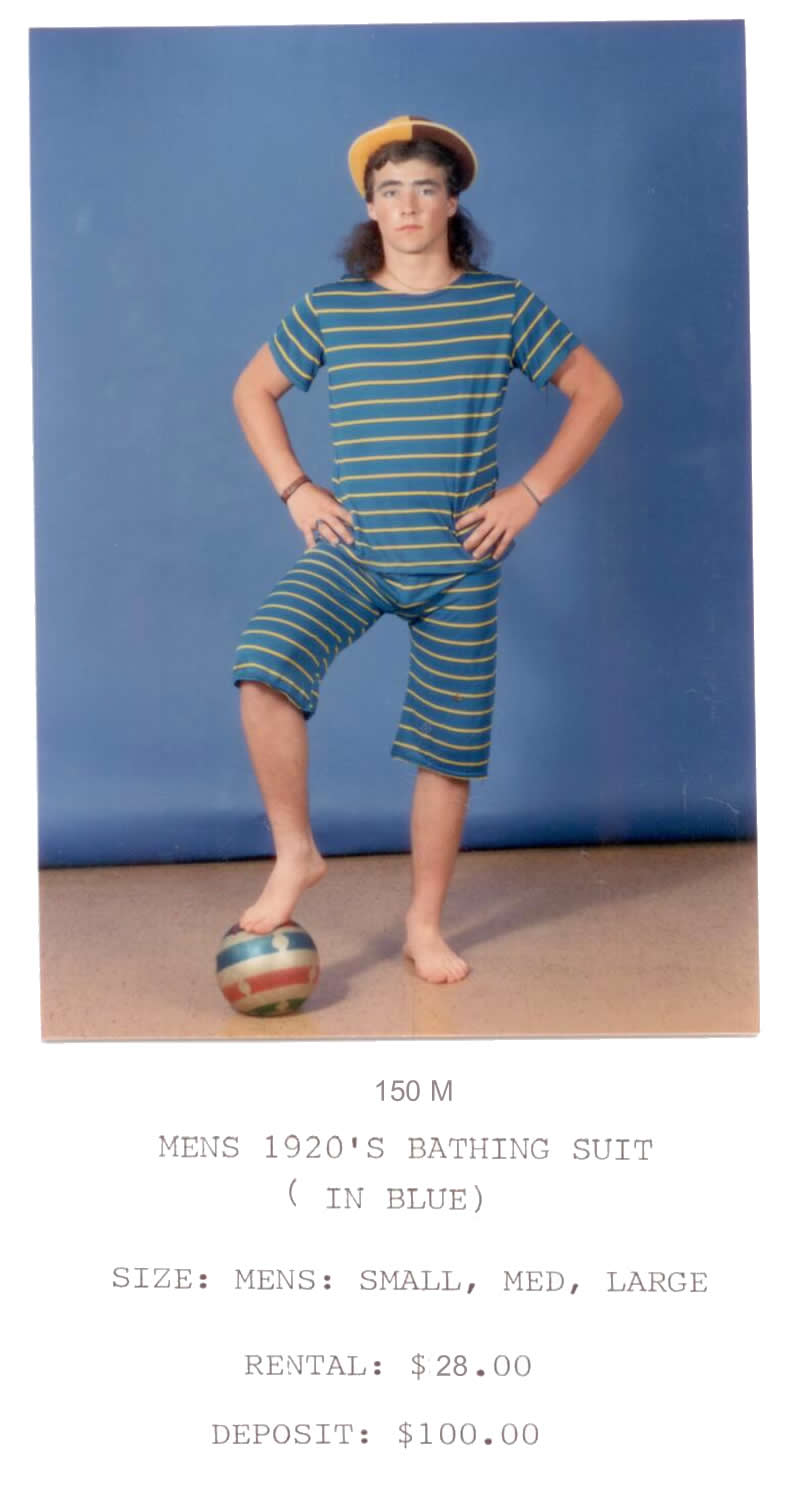 1920 Men's Bathing suit - blue