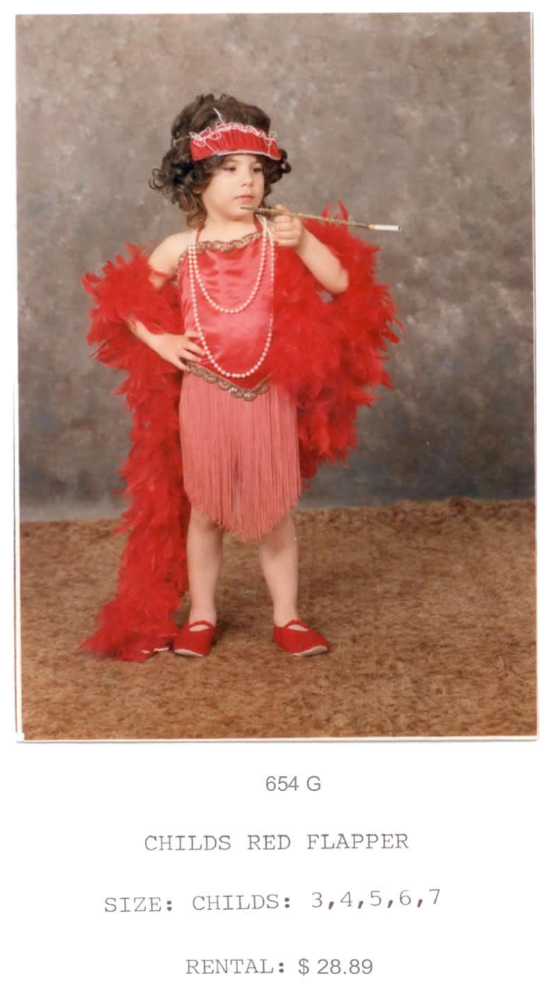 CHILDS RED FLAPPER
