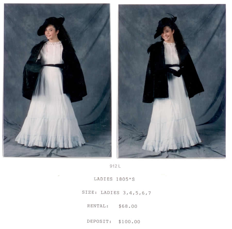 1805s LADIES DRESS